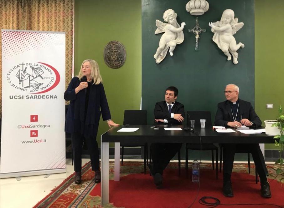 Susi Ronchi presenta il Corecom alle celebrazioni del patrono dei giornalisti