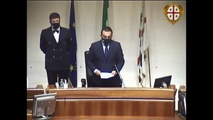 """Celebrazioni de """"Sa Die de sa Sardinia"""". Saluti istituzionali del Presidente del Consiglio regionale on.le Michele Pais."""